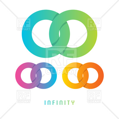 400x400 Infinity Sign, Different Colored Royalty Free Vector Clip Art