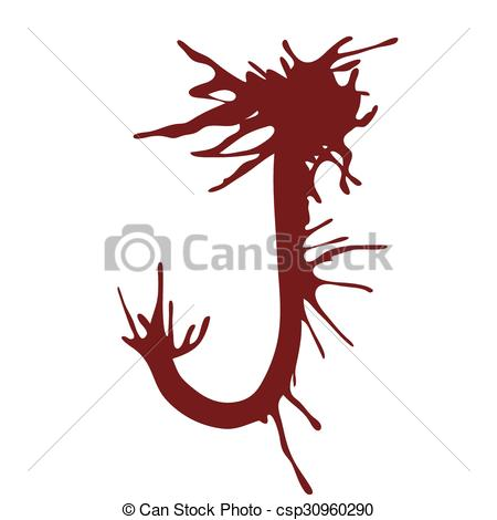 450x470 Dripping Blood Ink Fonts The Letter J. The Letter J Alphabet