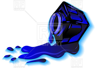 400x283 Ink Stain And Inkwell Royalty Free Vector Clip Art Image