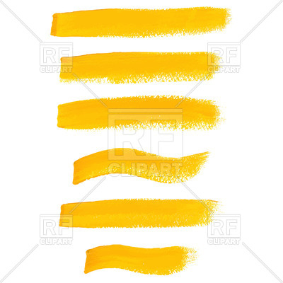 400x400 Yellow Ink Brush Strokes Royalty Free Vector Clip Art Image