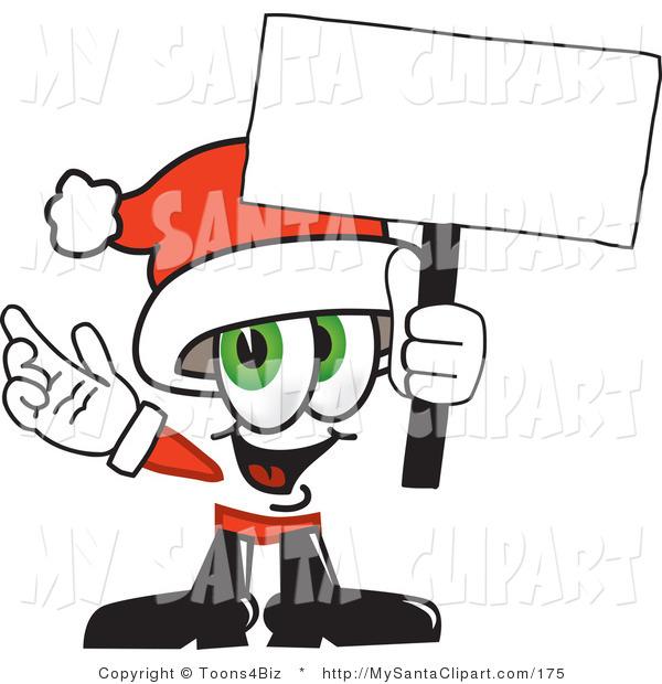 600x620 Christmas Clip Art Of A Green Eyed Santa Claus Mascot Cartoon