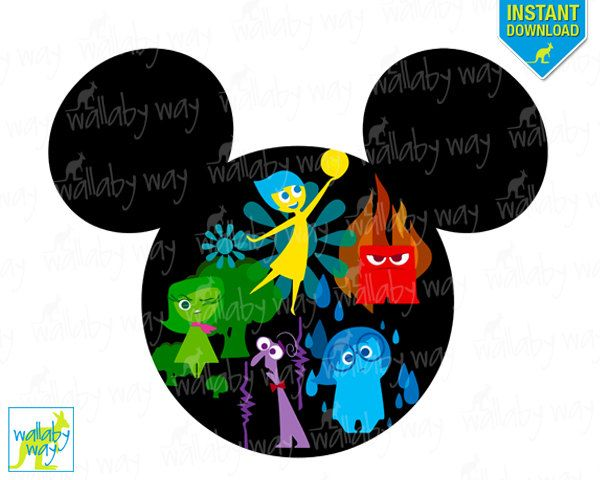 600x480 Inside Out Movie Mickey Head Printable Disney Iron On Transfer