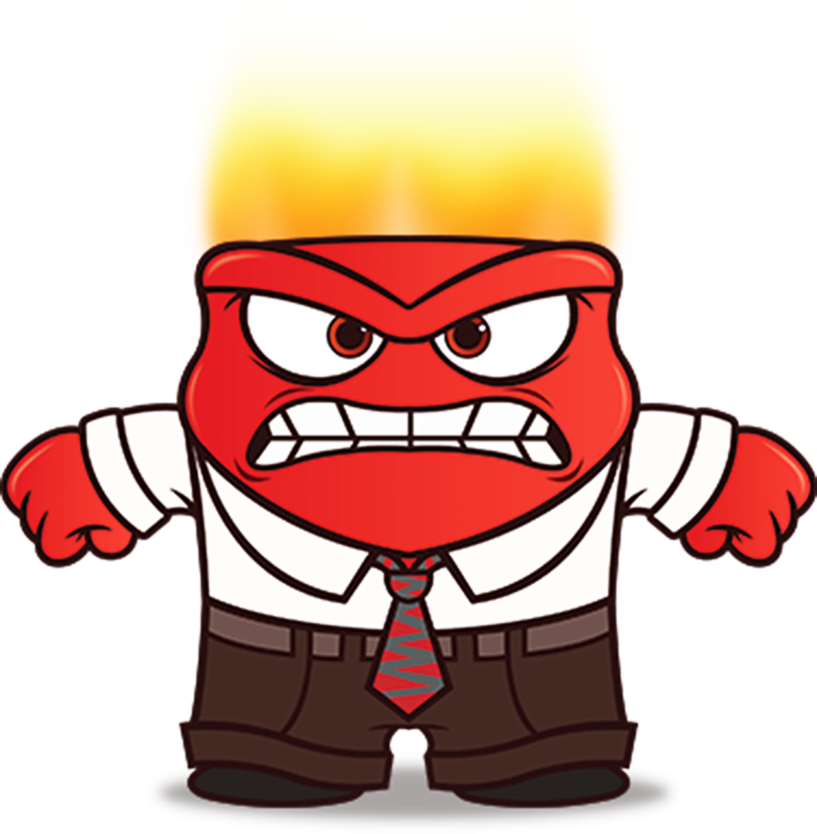 1156x1181 3005 Inside Out Anger Clip Art , Height 8 Cm, Decal Sticker