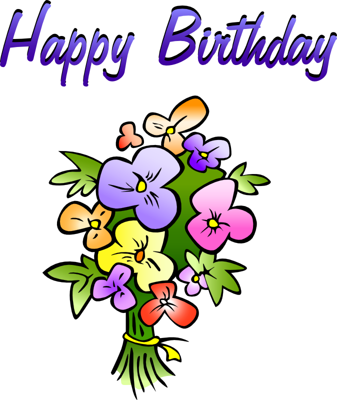 674x800 Women Clipart Happy Birthday