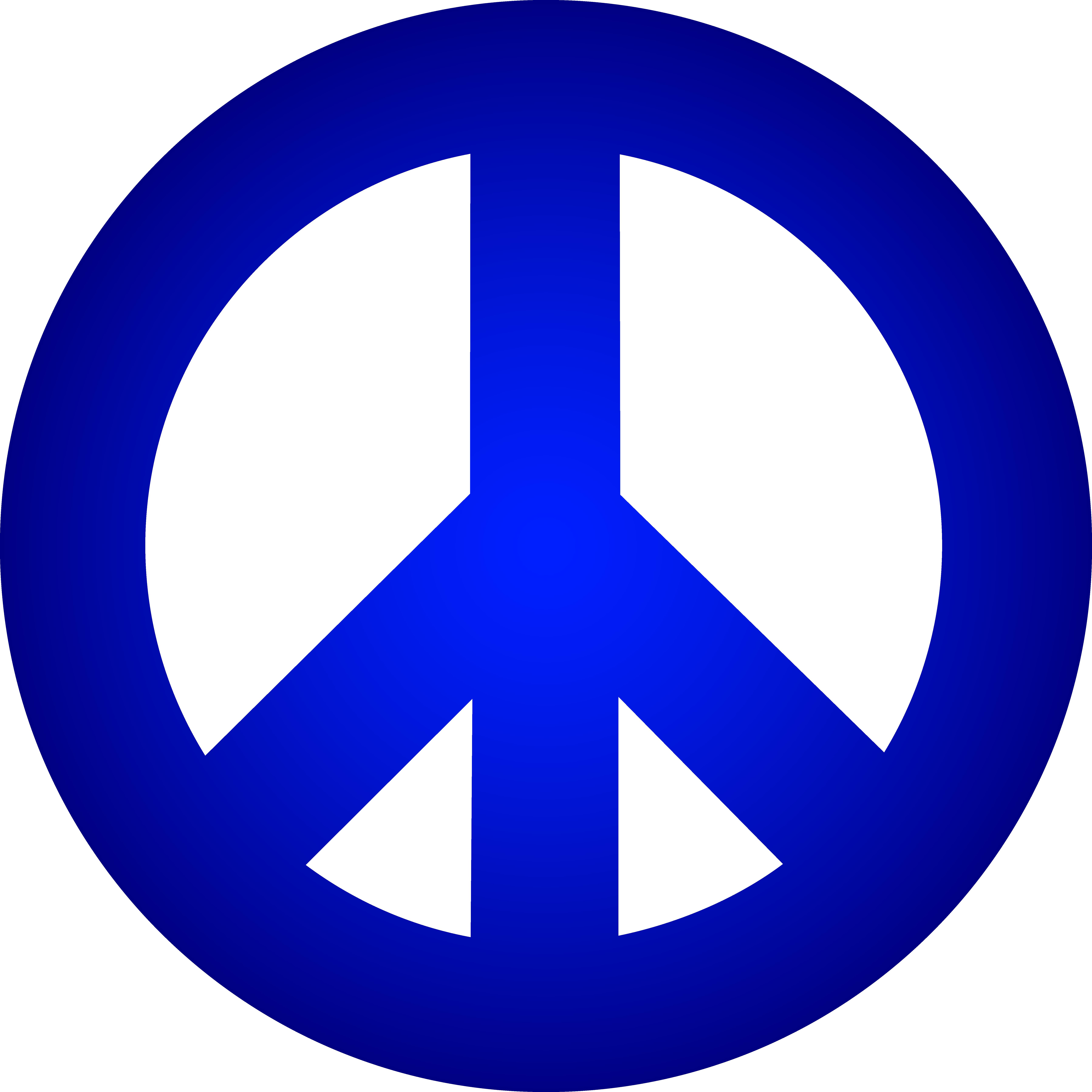 7192x7192 Peace Sign Blue Clip Art