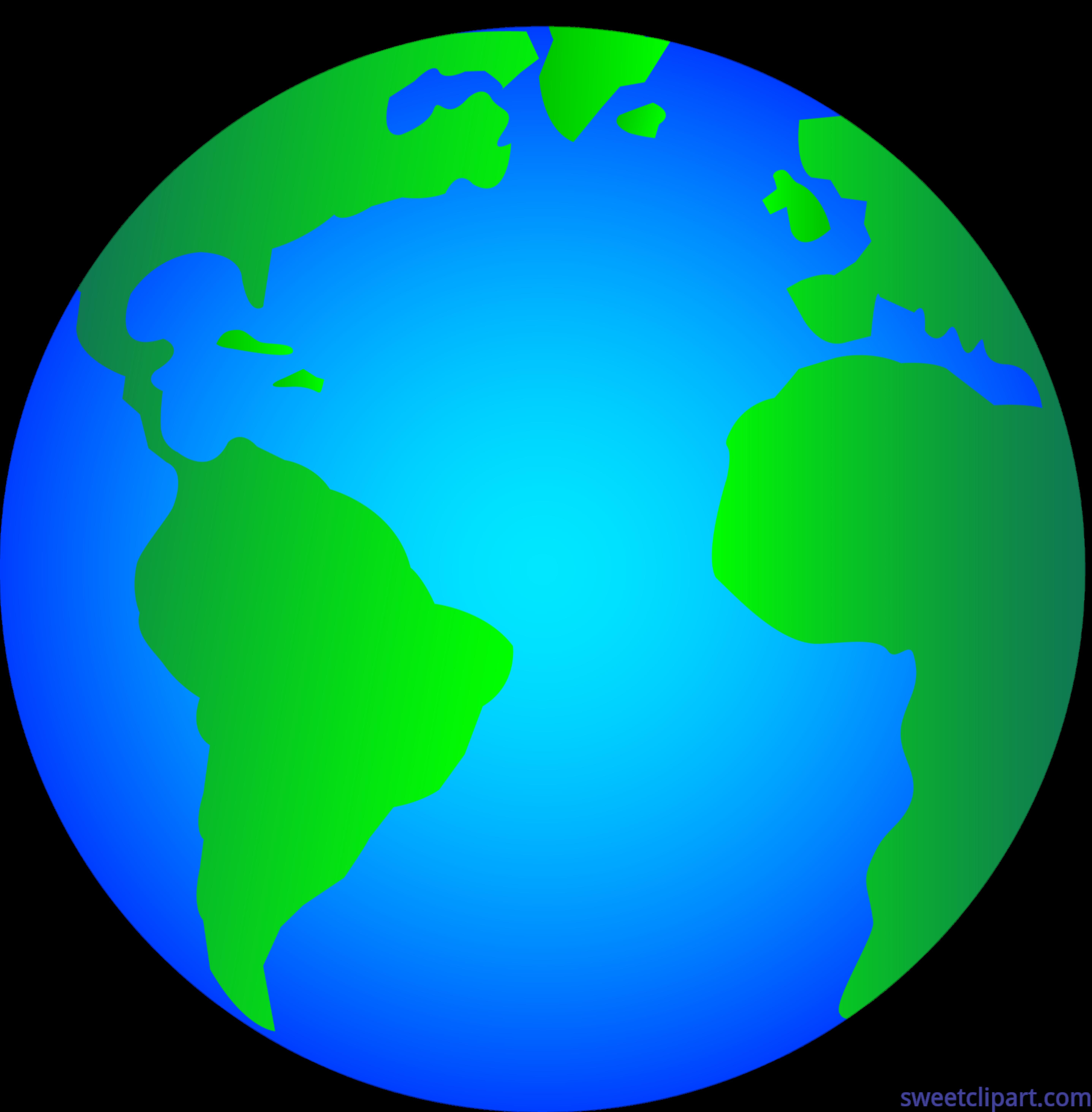 5748x5852 Shiny Glossy Earth Logo Clip Art