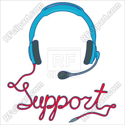 400x400 Headphones With Microphone, Online Support Service Royalty Free