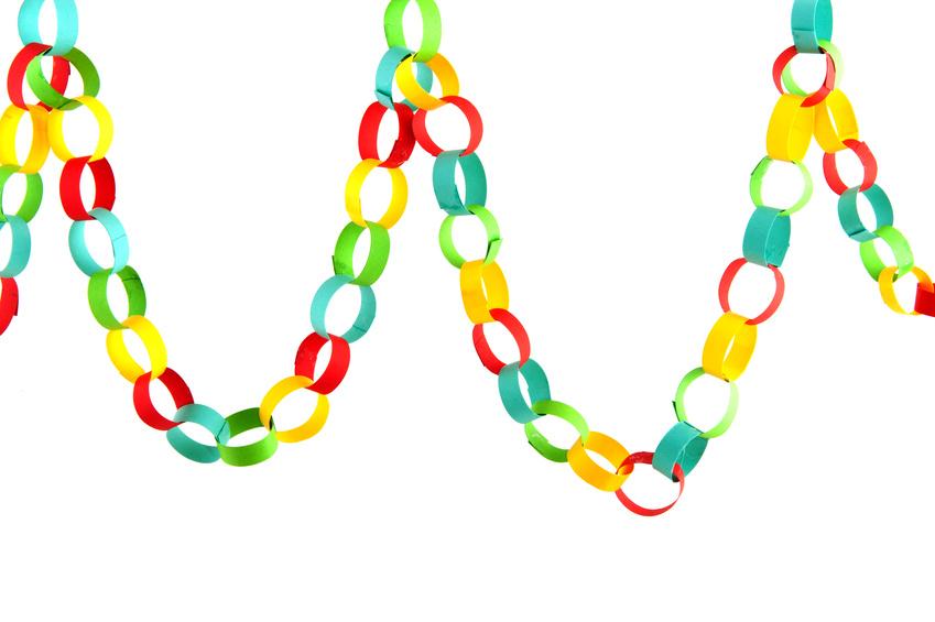 849x565 Paper Chain Link Clip Art Car Interior Design, Paper Chains