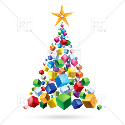 400x400 Abstract Christmas Tree Of Gifts Royalty Free Vector Clip Art