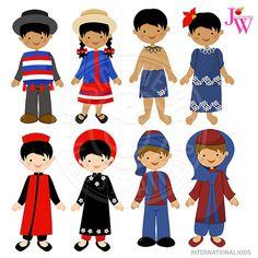 236x236 Children Of The World Clipart Part 1, Children Around The World