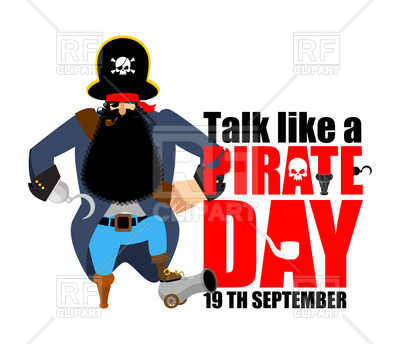 400x344 International Talk Like A Pirate Day Poster Royalty Free Vector