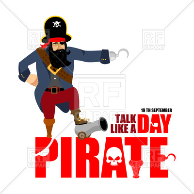400x400 International Talk Like A Pirate Day Poster With Text Royalty Free