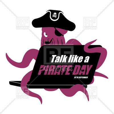 400x400 International Talk Like A Pirate Day. Octopus Web Pirate