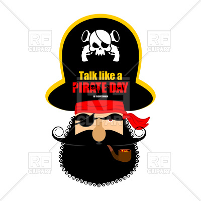 400x400 International Talk Like A Pirate Day. Pirate Portrait In Hat