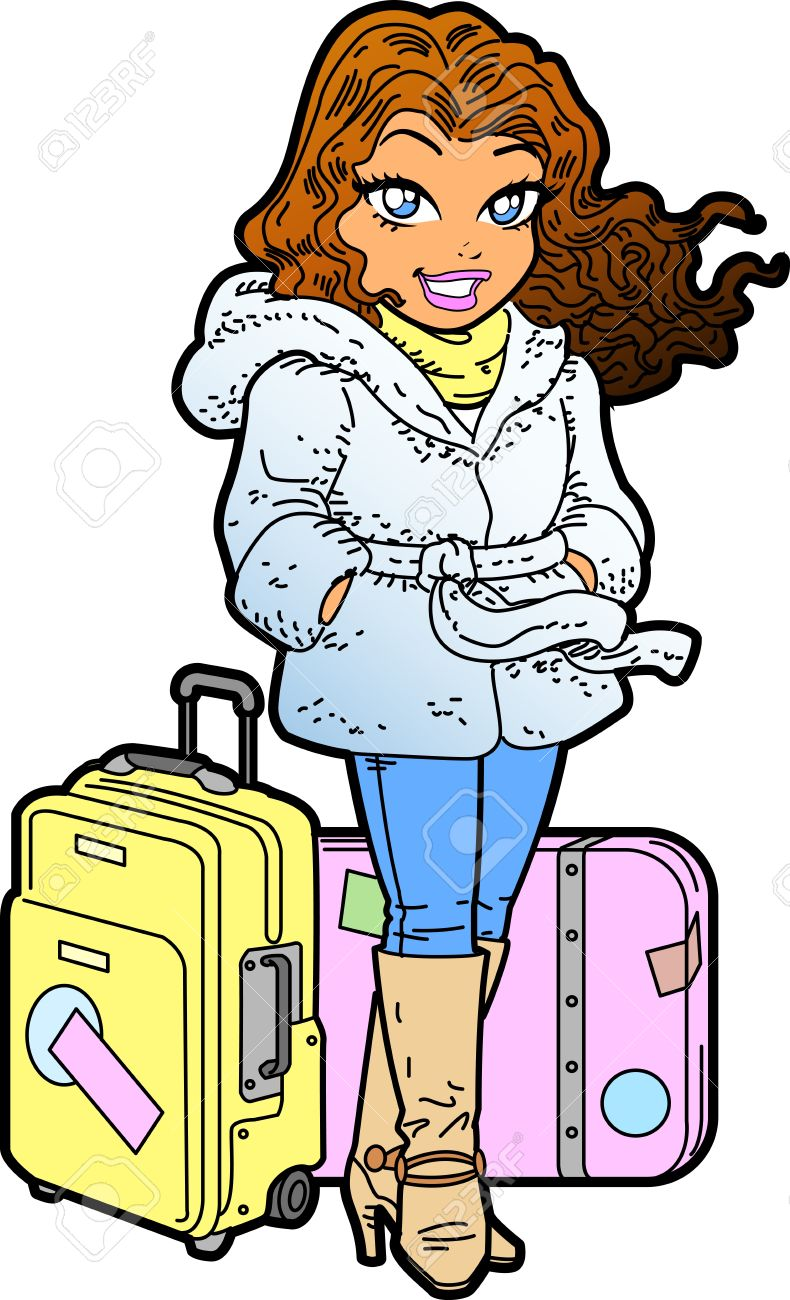 790x1300 Suitcase Clipart International Travel