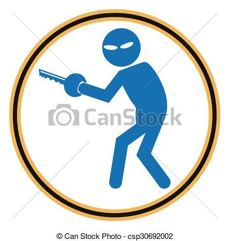 450x470 Hacker, Internet Security Concept. Thief Icon. Hacker, Vector