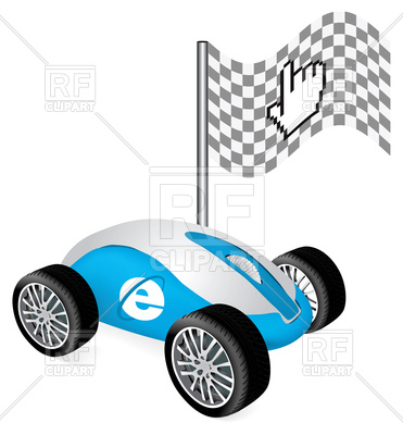 371x400 Hand Cursor On Car As Concept Of Fast Speed Internet Royalty Free
