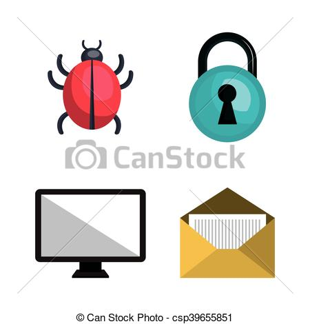 450x470 Internet Security Information Icon Vector Illustration Clipart