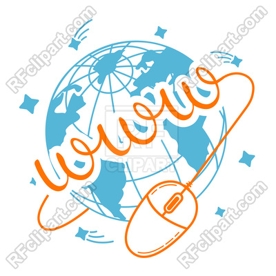 400x400 Concept Of Internet Communication Royalty Free Vector Clip Art