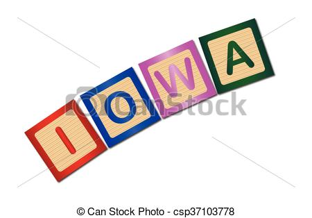 450x314 Iowa Wooden Block Letters. A Collection Of Wooden Block Vectors