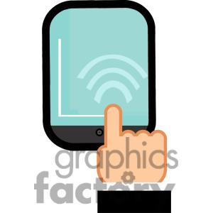 300x300 Clip Art Of A Ipad Touch Clipart Panda
