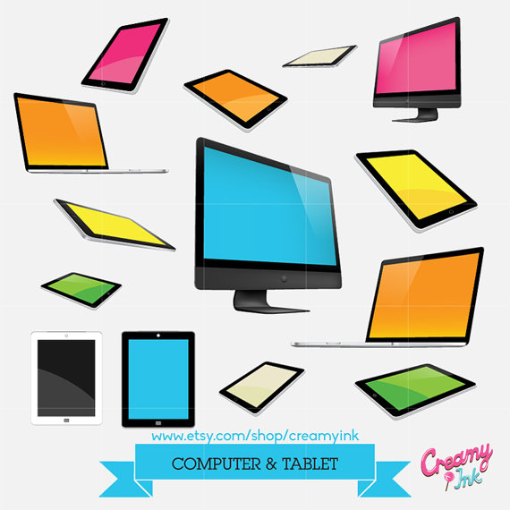 570x570 Computer Tablet Digital Vector Clip Art Laptop Ipad Electronic