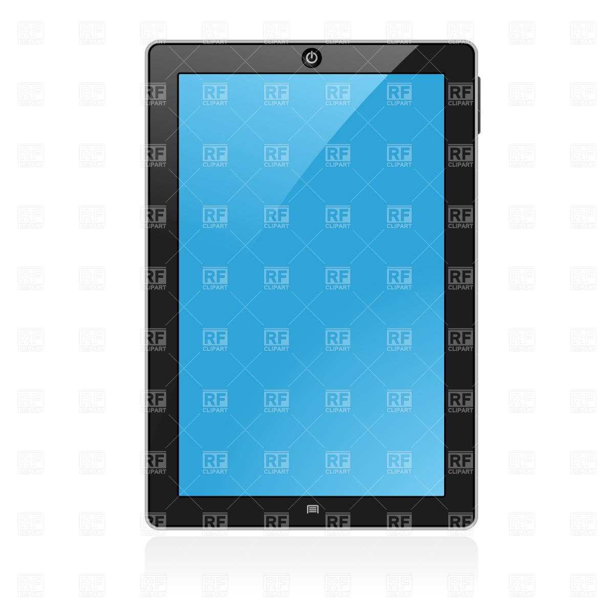 1200x1200 Blank Tablet Pad Pc Royalty Free Vector Clip Art Image