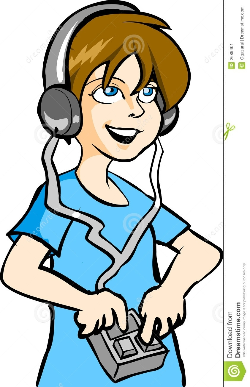 842x1300 Listening To Ipod Clipart