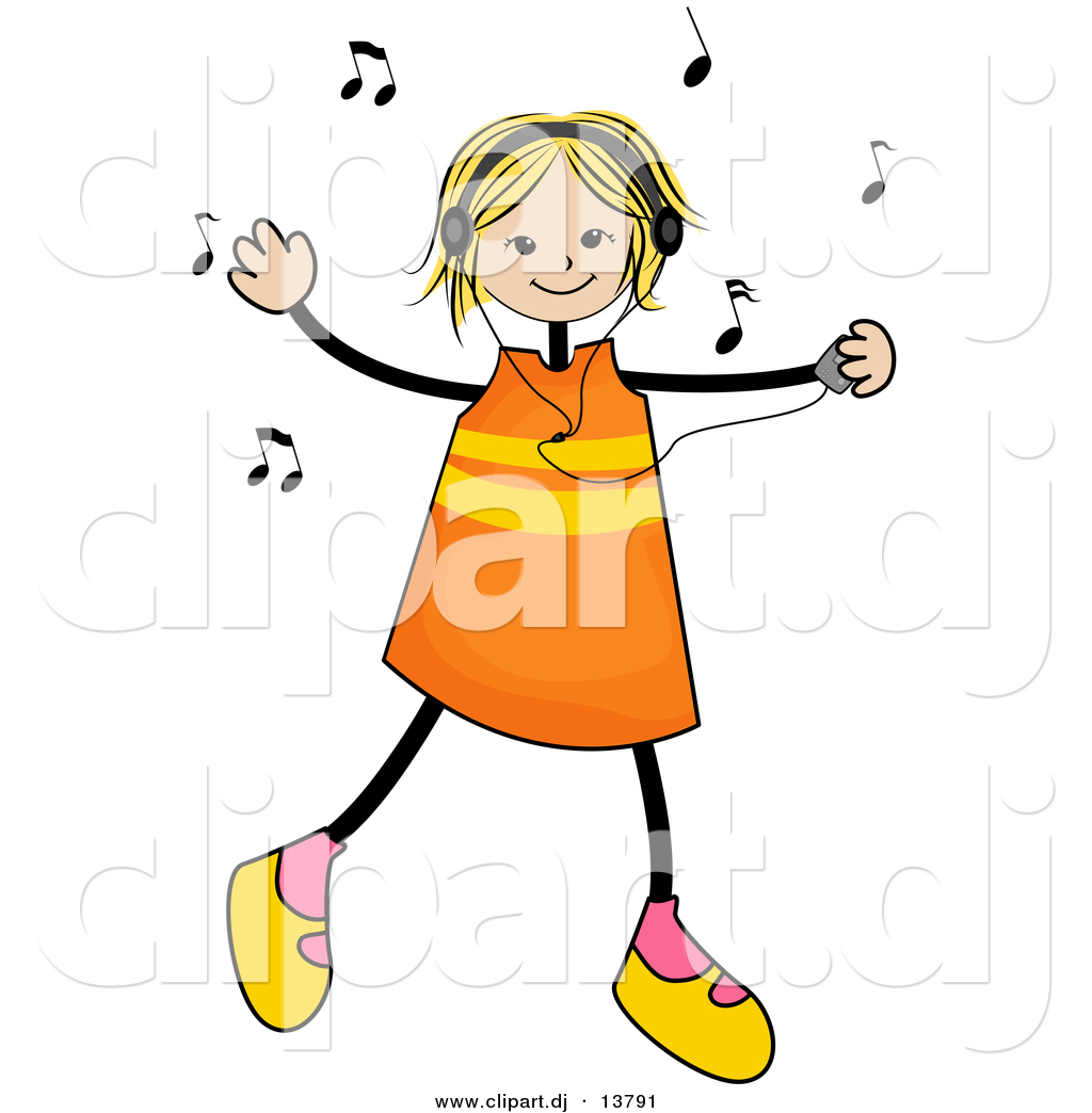1024x1044 Listening To Music Ipod Clipart