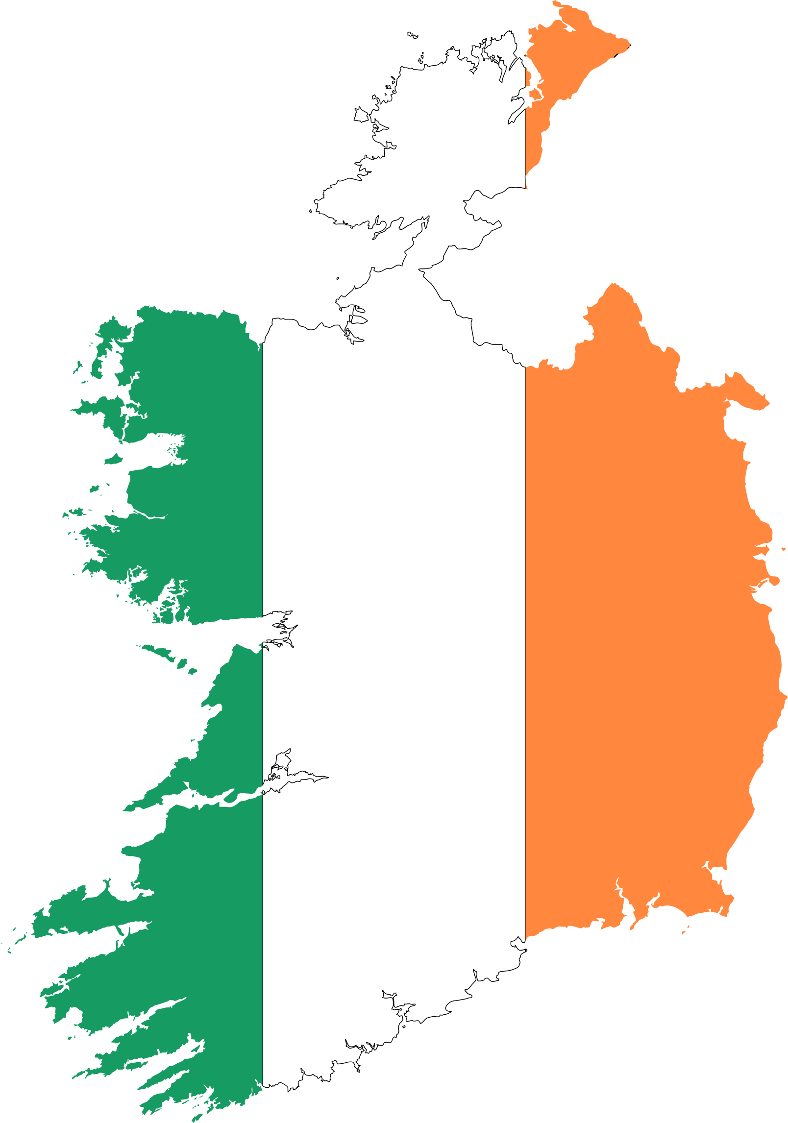 1608x2292 Ireland Map Clipart