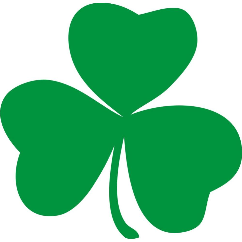 1000x1000 Irish Shamrocks Free Clipart