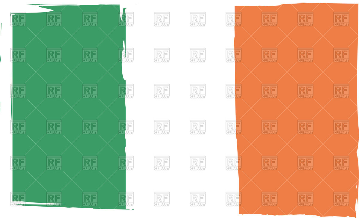 1200x727 Grunge Ireland Flag Illustration Royalty Free Vector Clip Art