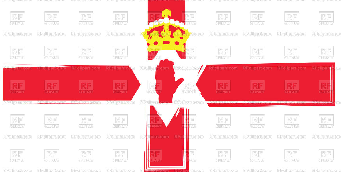 1200x602 Grunge North Ireland Flag Illustration Royalty Free Vector Clip