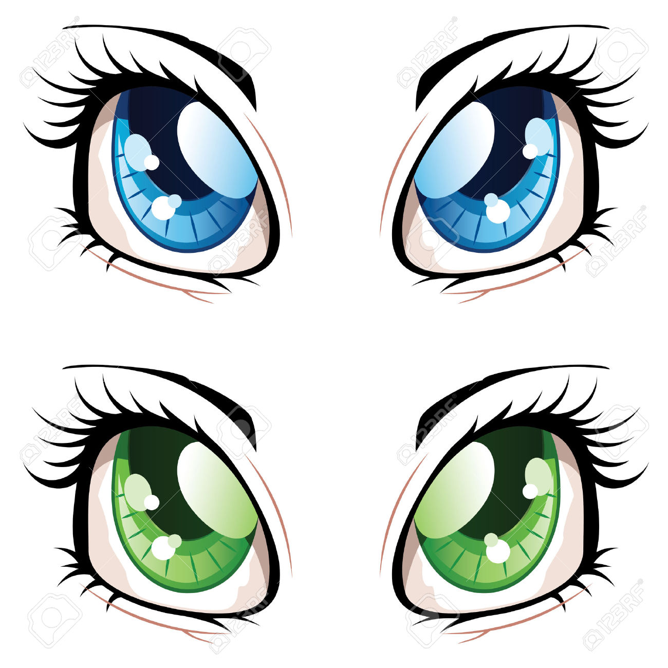 1300x1300 Different Colored Irises Clipart