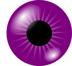300x273 Purple Eye Clip Art