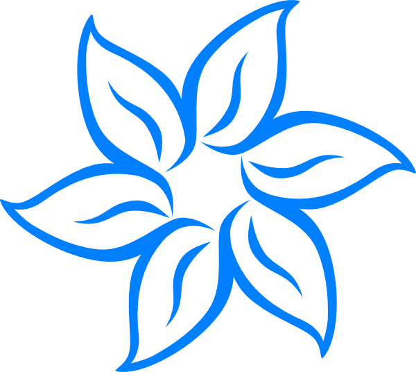 600x536 Blue Flower Clip Art Free Collection Download And Share Blue