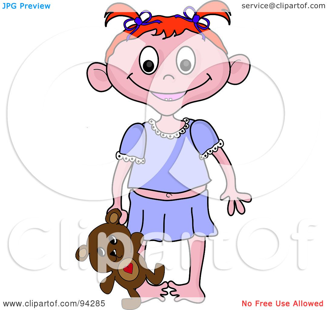 1080x1024 Royalty Free (Rf) Clipart Illustration Of A Little Irish Girl