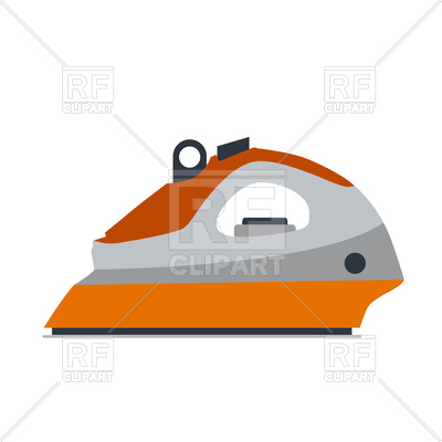 400x400 Iron Steam Illustration Tool Isolated Royalty Free Vector Clip Art