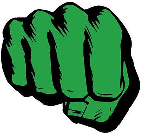 570x540 Hulk Fist Iron On T Shirt Pillowcase Transfer