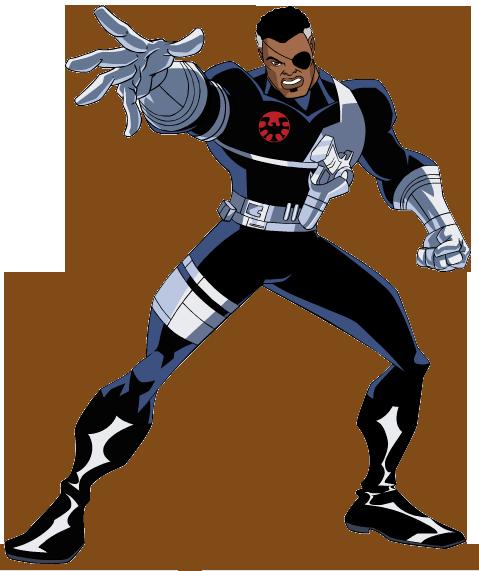 479x571 Nick Fury Black Panther Black Widow Iron Man Clip Art