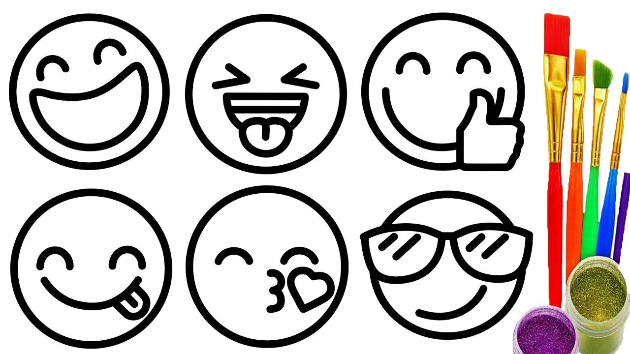 1280x720 Emoji Coloring Pages Find Here More Than