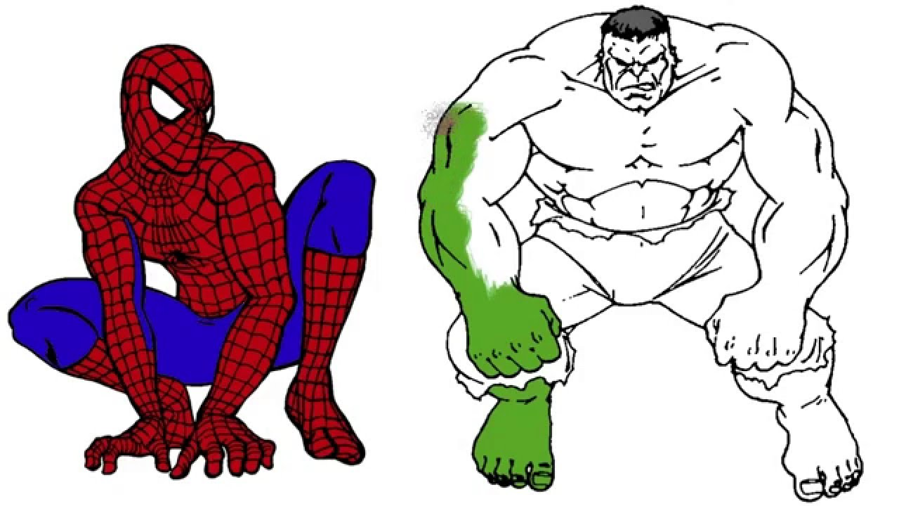 1280x720 Fascinating Best Of Spiderman Cartoon Coloring Pages Collection