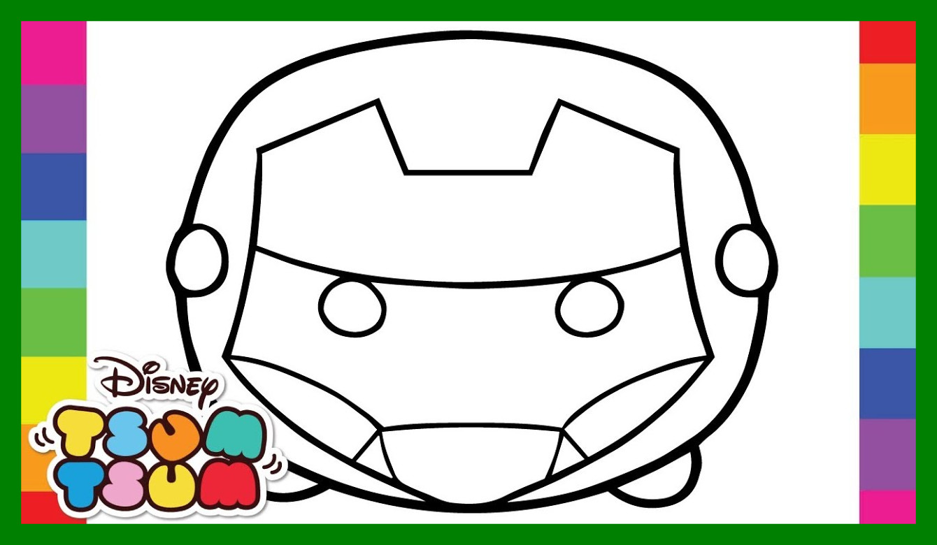 1340x780 Incredible Coloring Iron Man Disney And Pixar Tsum Pages
