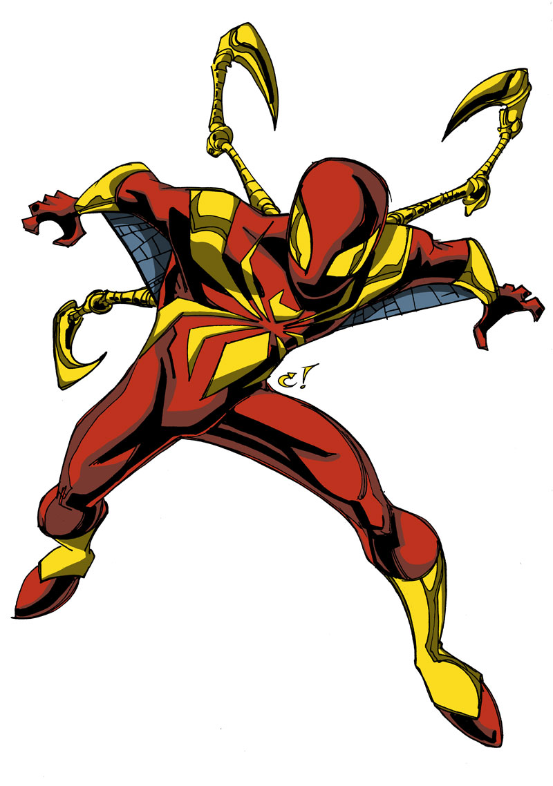 800x1138 Iron Spider Colouring Pages, Iron Spider Coloring Pages