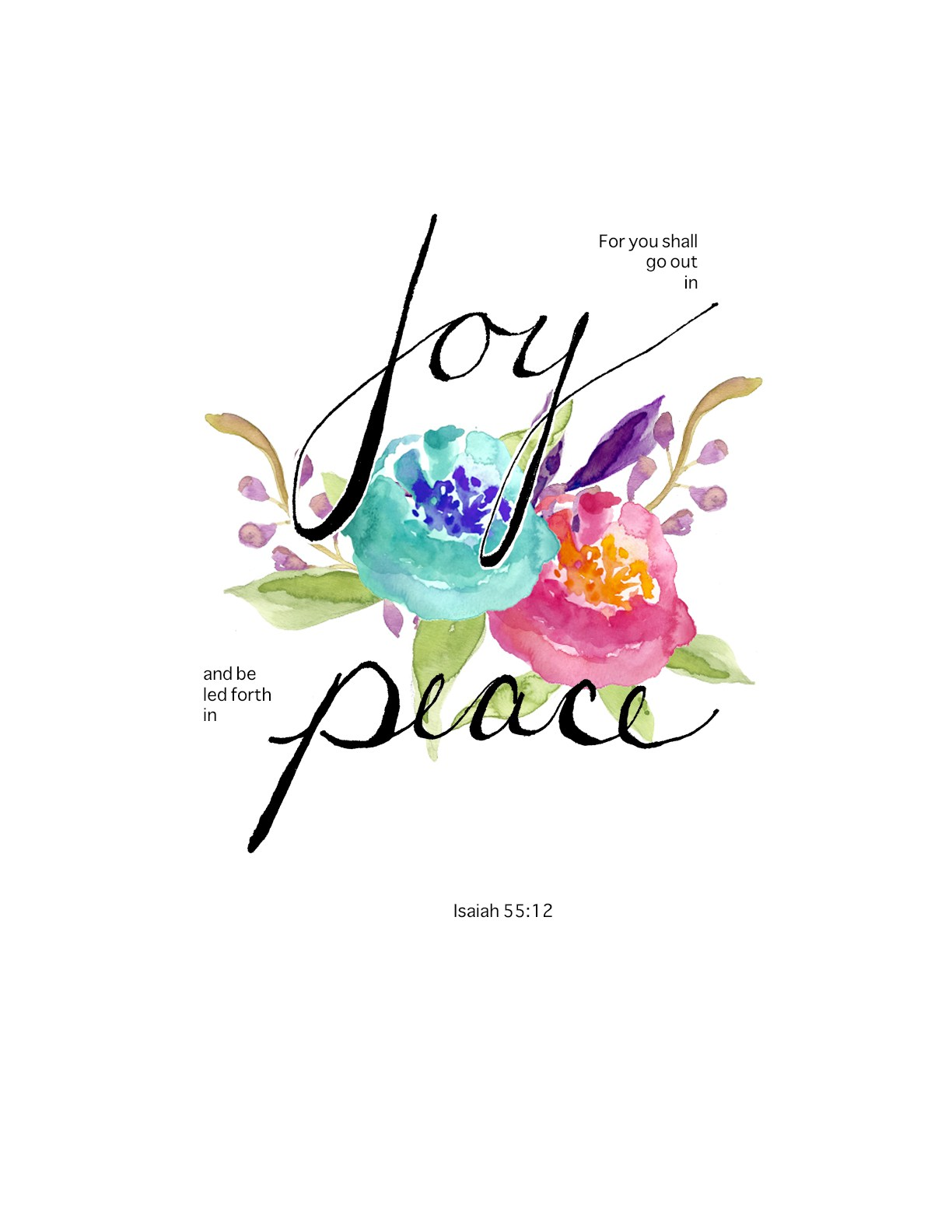 1224x1584 Isaiah 5512 Scripture Doodling, And A Free Printable! Lace And Yarn