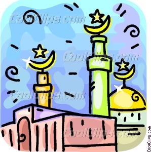 298x300 Islamic Minarets Vector Clip Art