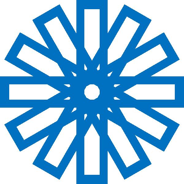 600x600 Islamic Star Blue Clip Art