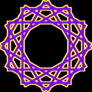 300x300 Purple Islamic Art Clip Art