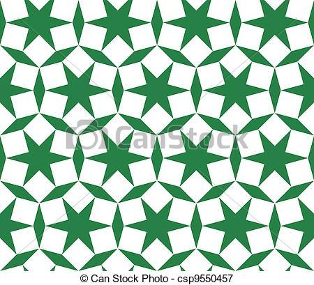 450x409 Seamless Traditional Geometrical Islamic Ornament Vectors