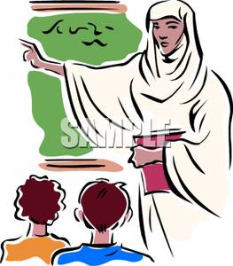 263x300 An Islamic Woman Teaching Her Students